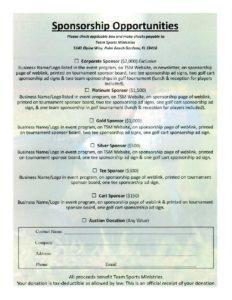 Team Sports Ministries » TSM 9th Annual Golf Tournament